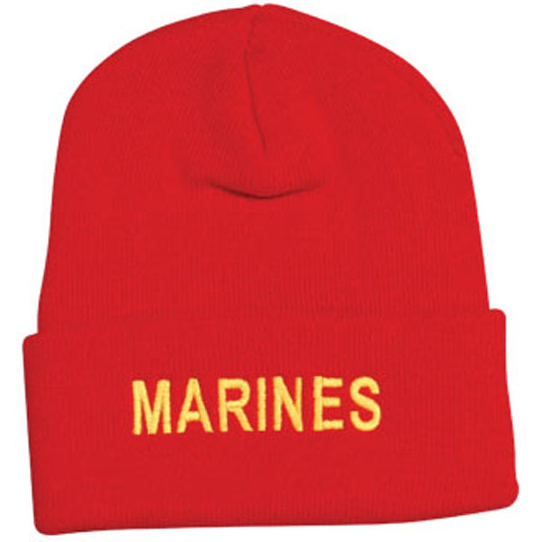 0ee36187c19be MARINES Letters Direct Embroidered Red Watch Cap