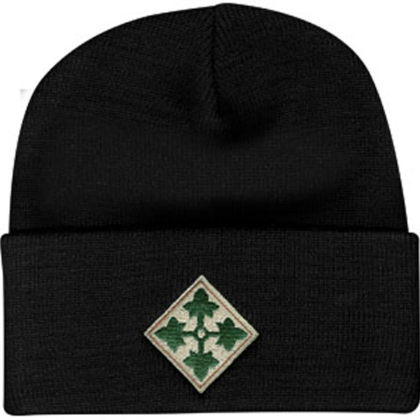 76a06d480fb 4th Infantry Division Direct Embroidered Black Watch Cap