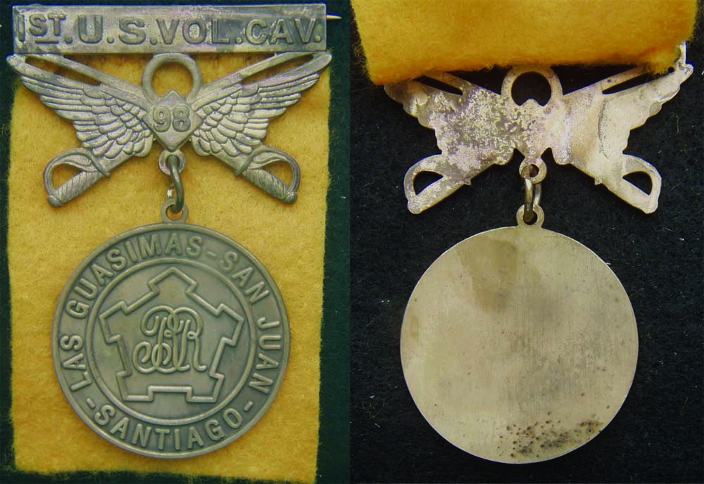 Spanish American War 1st Us Volunteer Calvary Medal