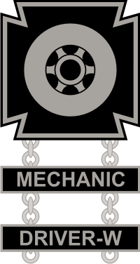 Army Driver And Mechanic Badge Decal North Bay Listings