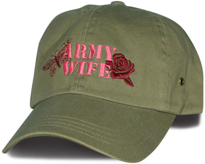 Army Wife With Butterfly And Rose Design Direct