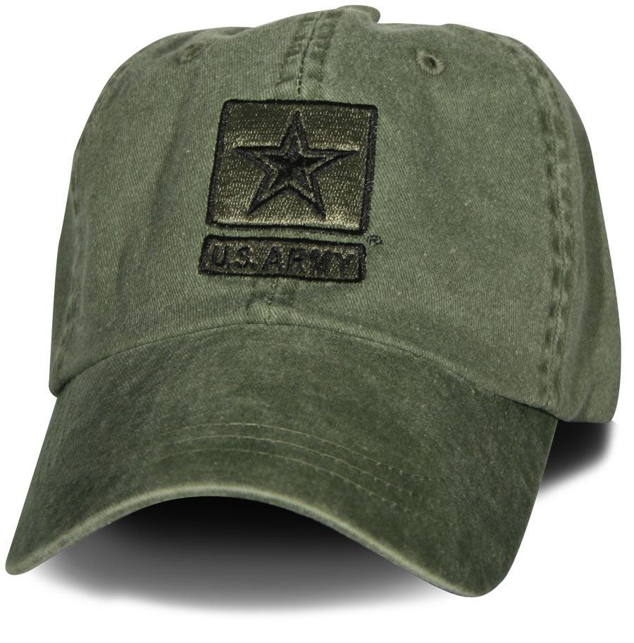 Army Us Army Star Olive Drab Direct Embroidered Foliage