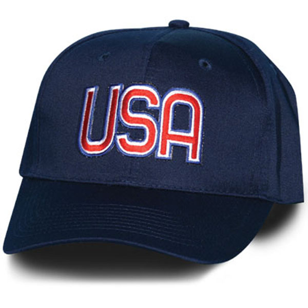 Usa Letters Red White And Blue Patch Navy Blue Ball Cap