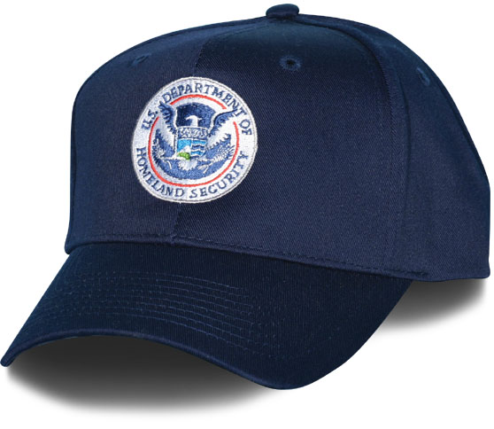 Homeland Security Logo Direct Embroidered Navy Ball Cap  060151603a9
