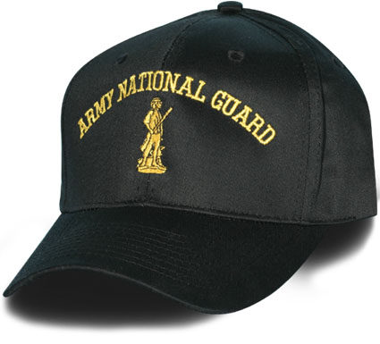 Army National Guard Direct Embroidered Black Ball Cap