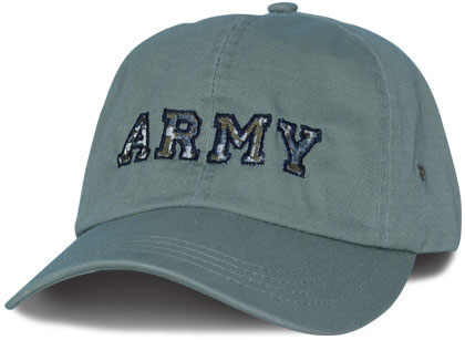 40707c7ed85 ARMY ACU Letters Direct Embroidered Olive Ball Cap