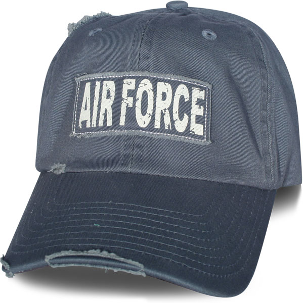 Air Force Applique Frayed Fabric With Screen Print Frayed