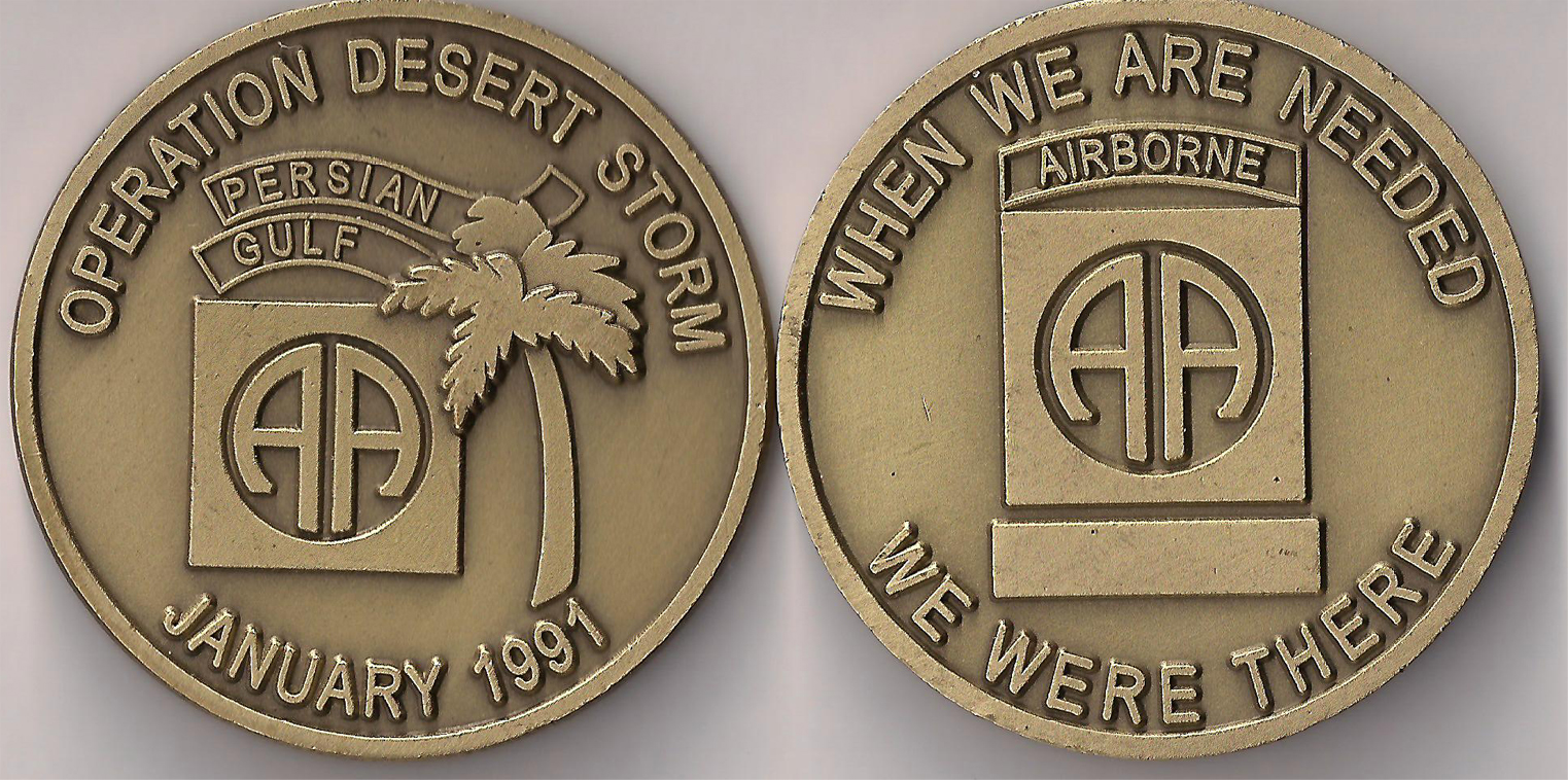 82nd Airborne Desert Storm Challenge Coin North Bay Listings