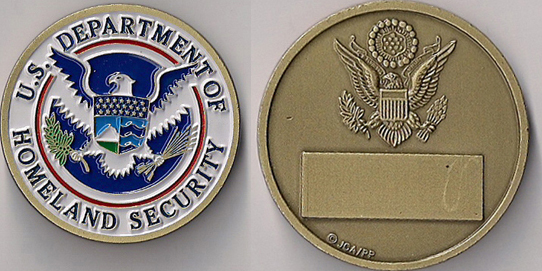 Department Of Homeland Security Challenge Coin North Bay