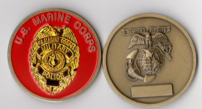 USMC - Military Police - New Style Badge Challenge Coin | North Bay