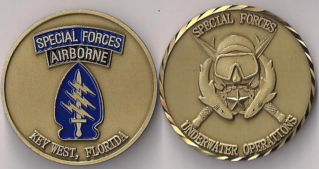 Special Forces Underwater Operations Challenge Coin