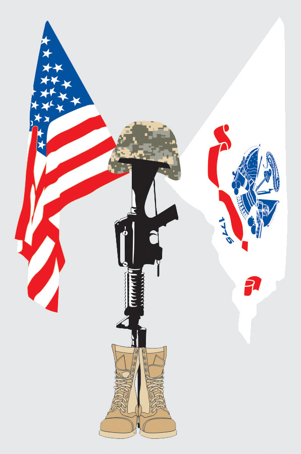 Usa Flag Us Army Flag Fallen Soldier Decal North Bay