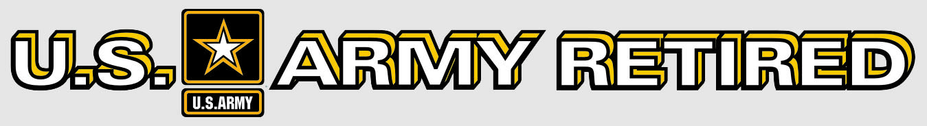 Us army retired with star logo bumper sticker
