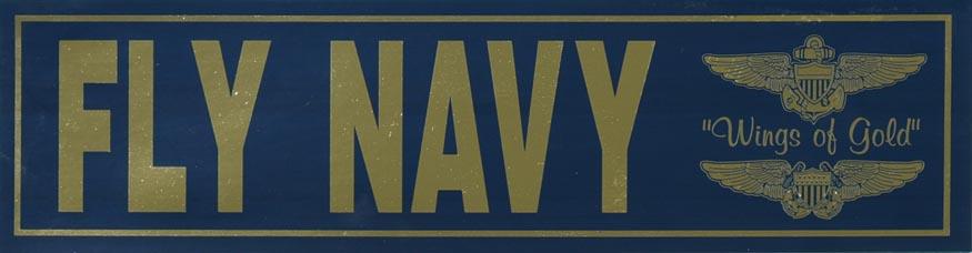 Fly navy bumper sticker