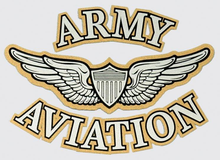 army aviation with wing and shield logo decal north bay