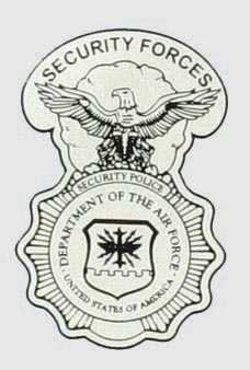 Air Force Security Forces Shield Decal   North Bay Listings