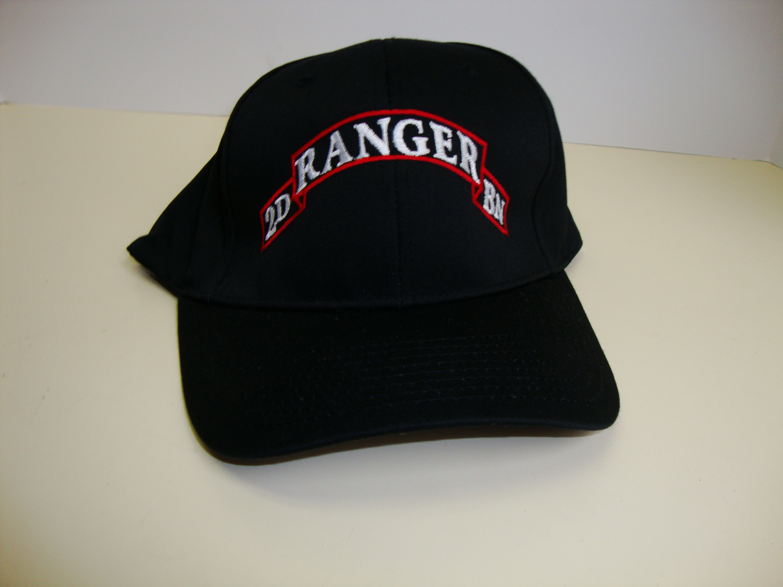 00b3d90f5 2nd Ranger Direct Embroidered Black Ball Cap | North Bay Listings