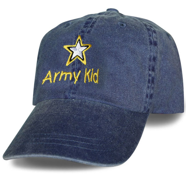4c4257114f5 Army Kid with Star Logo Kids Direct Embroidered Ball Cap