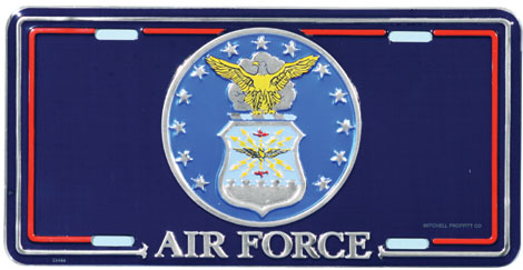 Air Force License Plate With Crest North Bay Listings