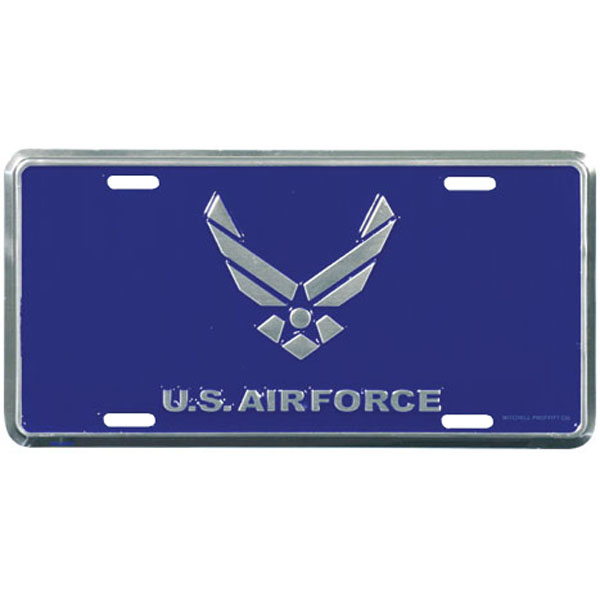 Air Force License Plate Us Air Force With Hap Arnold Wing North