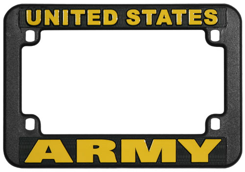 United States Army Motorcycle License Plate Frame | North Bay Listings
