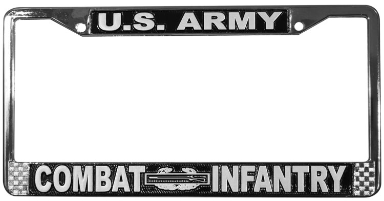 Combat Infantry License Plate Frame   North Bay Listings