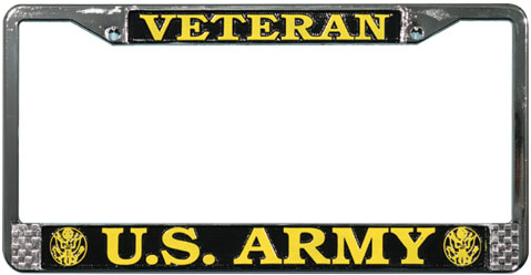 Us Army Veteran License Plate Frame North Bay Listings