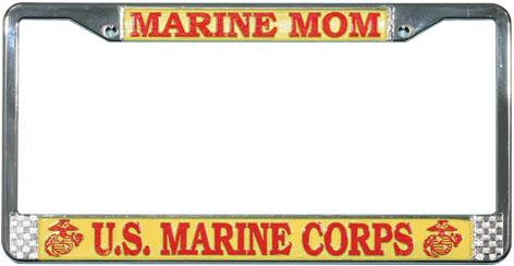 Marine License Plate Frame Us Marine Corps Mom North Bay