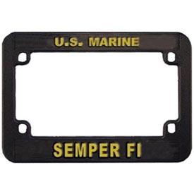 marines semper fi motorcycle license plate frame - Motorcycle License Plate Frames