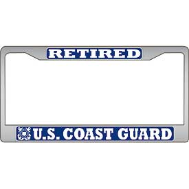 Coast Guard Retired Auto License Plate Frame North Bay