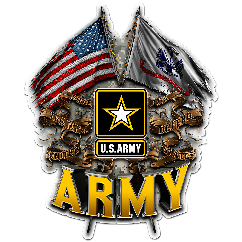 Army Double Flag Us Army Decal North Bay Listings