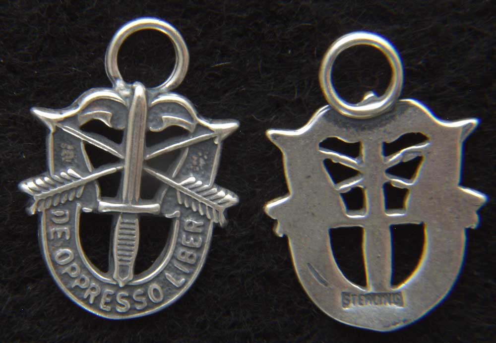 Special Forces Sterling Silver Crest Charm North Bay