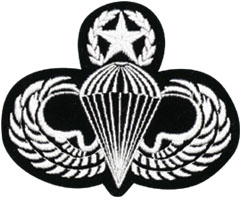 Army Para Wing Master With Star And Wreath Patch North