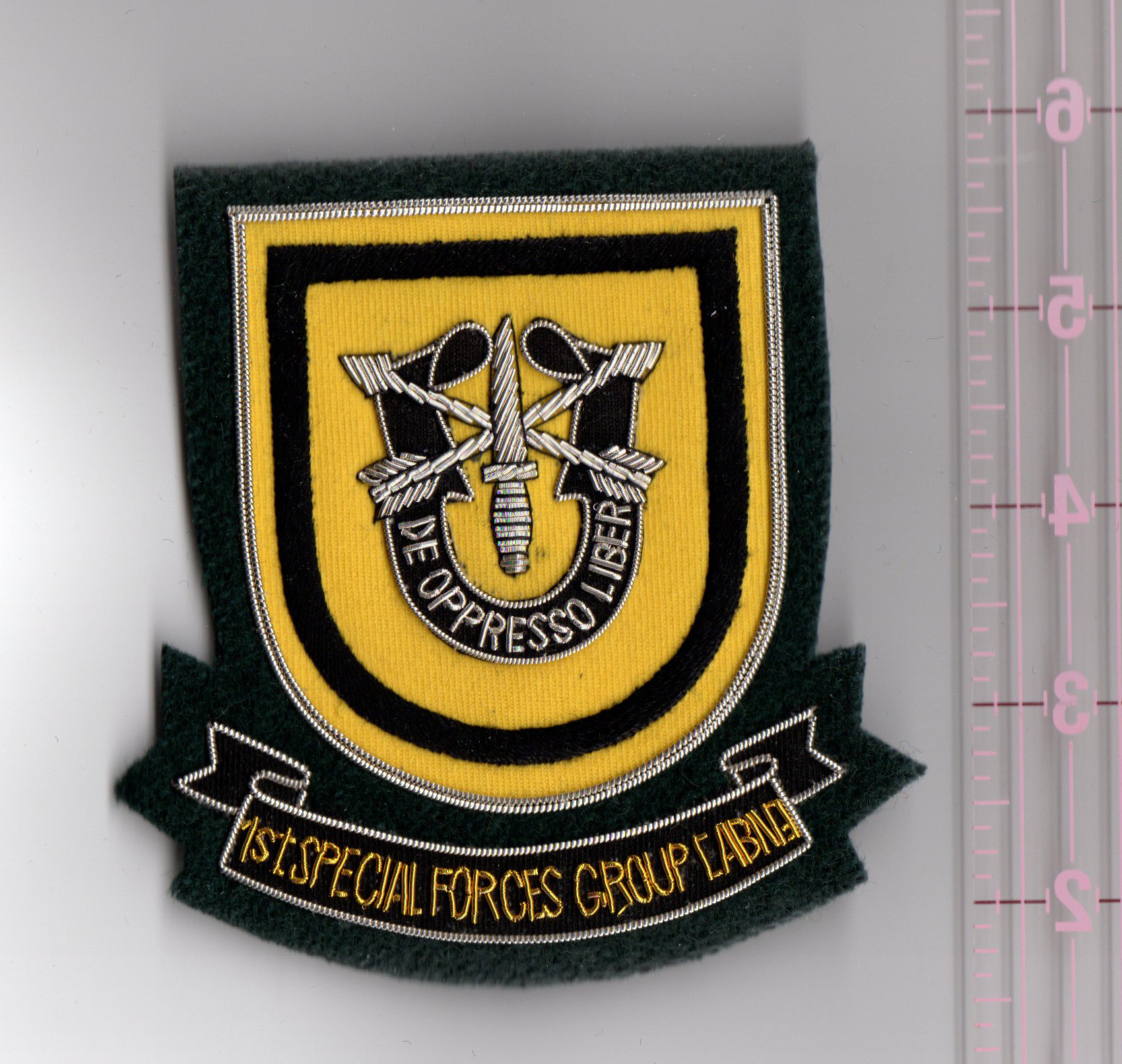 1st Group Special Forces Bullion Pocket Patch North Bay