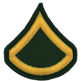 Army E3 PFC Rank Patch | North Bay Listings