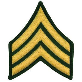 Army E5 Sergeant Rank Patch North Bay Listings