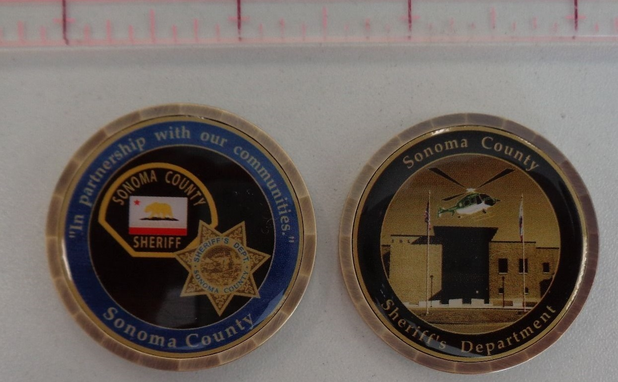 SONOMA COUNTY SHERIFF'S DEPARTMENT CHALLENGE COIN | North