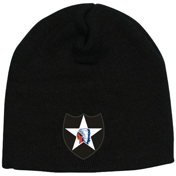 bc6be03bc5b 2nd Infantry Division Indian Head Direct Embroidered Black Skull Cap ...