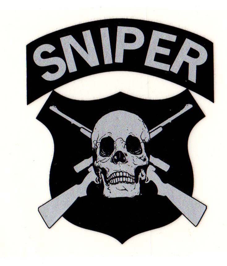 Sniper Decal Cross Rifle - Skull. | North Bay Listings