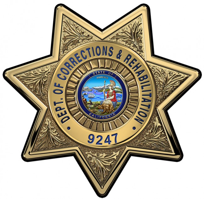 Custom California Department Of Corrections And Rehabilitation Officers  Badge Al