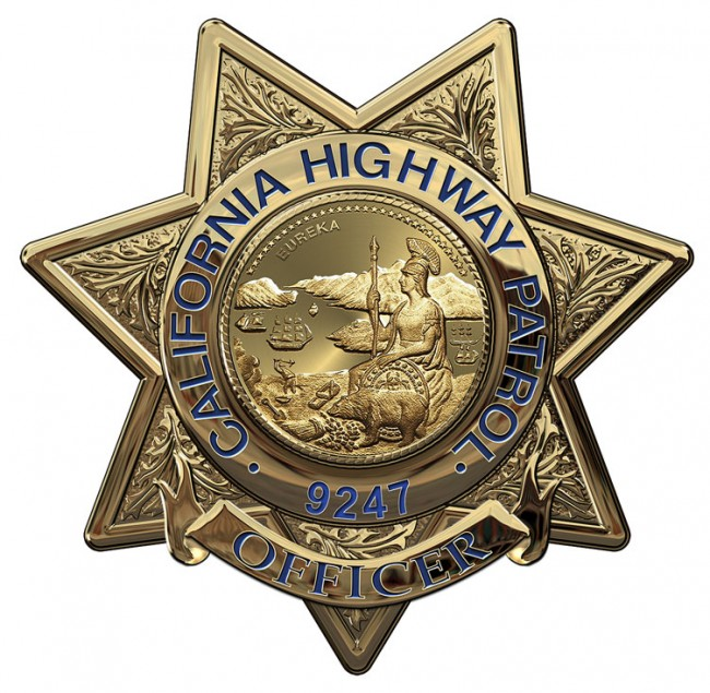 california highway patrol officer badge all metal sign. Black Bedroom Furniture Sets. Home Design Ideas