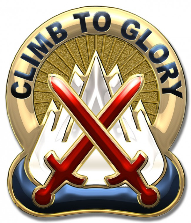 10th Mountain Division Unit Crest (Climb to Glory) 12 x 15 ...