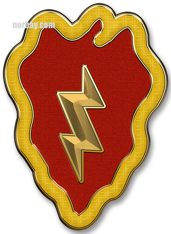 25th Infantry Division 15 X 11 Quot Metal Sign North Bay