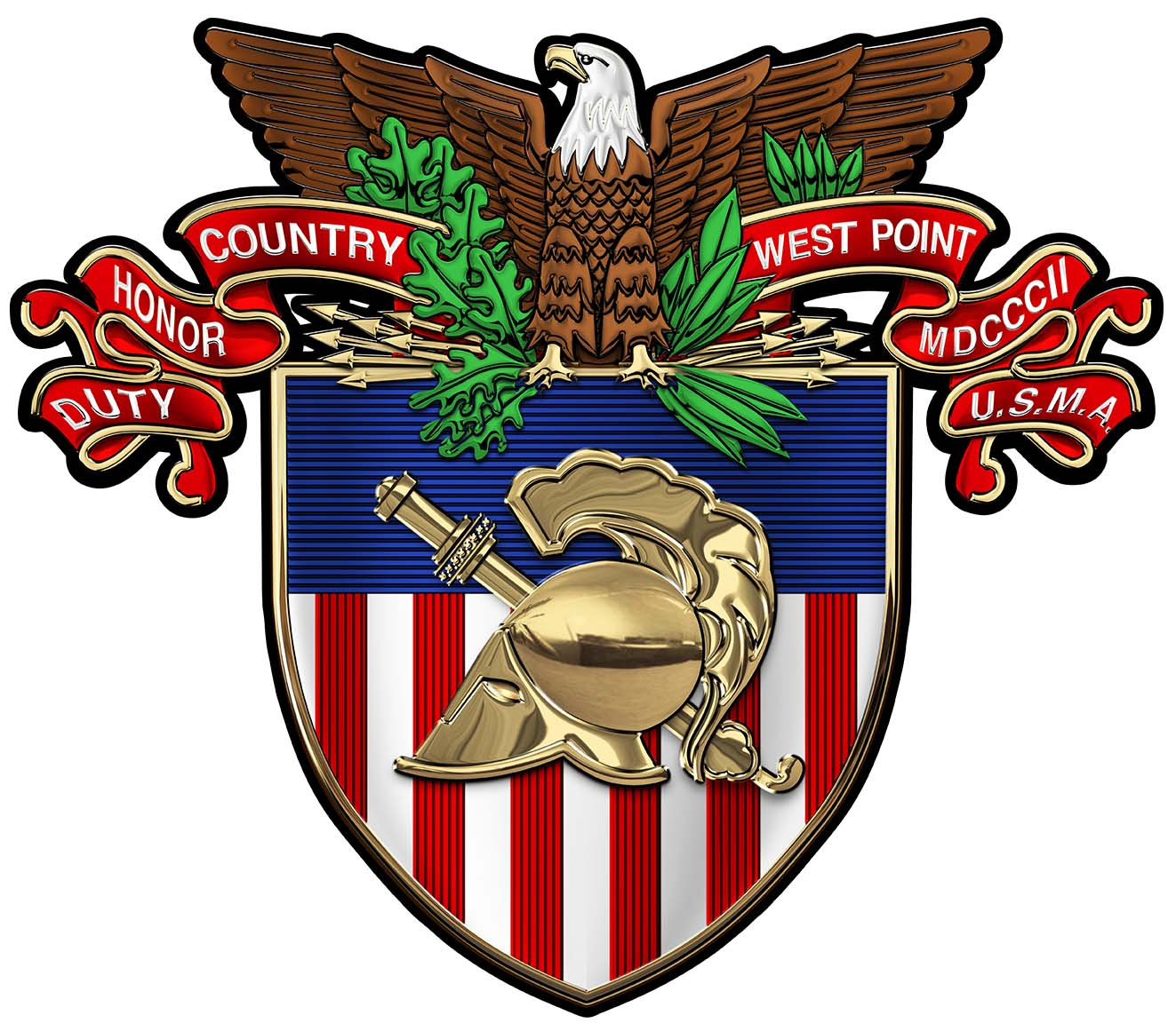 Army West Point Emblem All Metal Sign 18 X 16 Quot North Bay