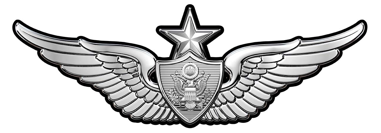 Army Senior Aircrew Wings All Metal Sign Small 7 X 3