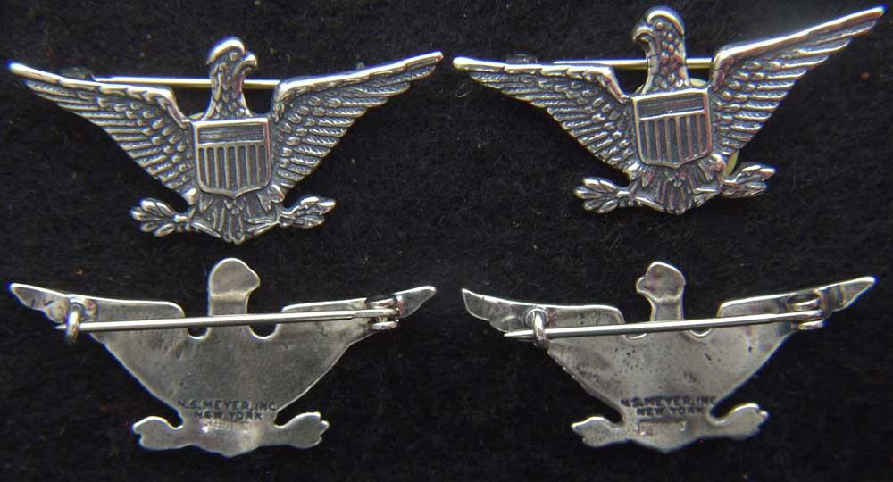 Spanish American War Colonel War Eagles Sterling Silver