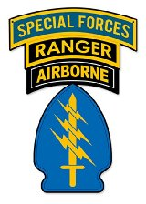 Special Forces Triple Canopy Abn Ranger Patch Metal Sign