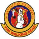 USMC 1st Battalion, 9th Marines Walking Dead Decal