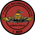 1st Force Recon Co I MEF Decal