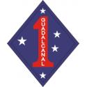 1st Marine Division Guadalcanal Decal